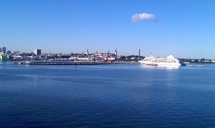 arrivée à Tallinn